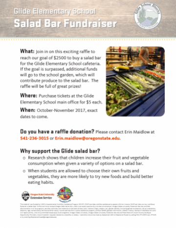 Glide Salad Bar Fundraiser Template English