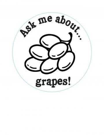 Grapes Hand Stamp