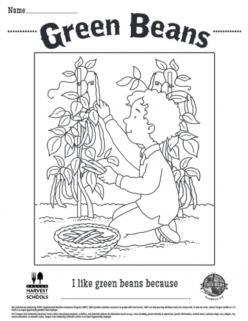 Green Beans Coloring Sheet