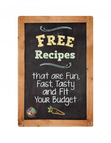 Free Recipes Point of Purchase Display Color Logo- English
