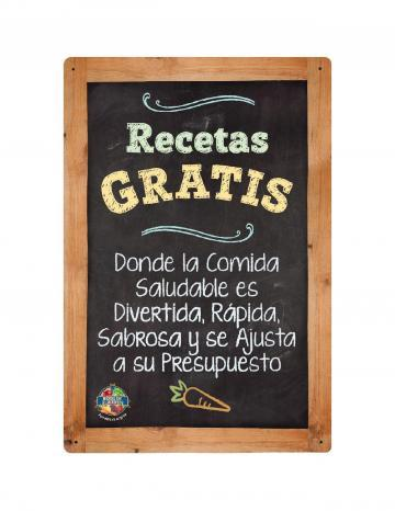 Free Recipes Point of Purchase Display Color Logo - Spanish