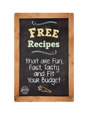 Free Recipes Point of Purchase Display White Logo - English