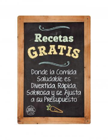 Free Recipes Point of Purchase Display White Logo - Spanish