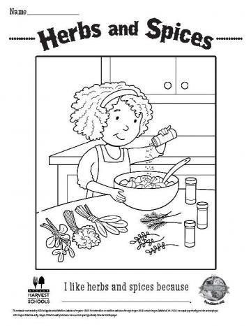Spice Coloring Page