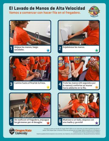 High Speed Handwashing Mini Poster - Spanish