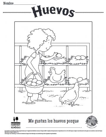 Hojas para Colorear de Huevos