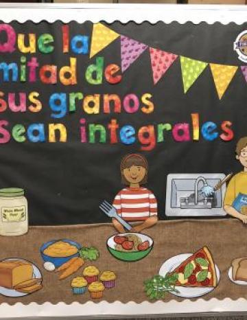 Whole Grain Bulletin Board - Spanish
