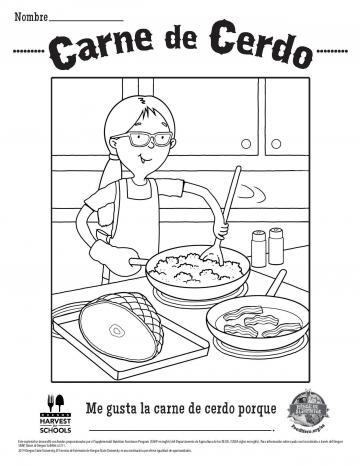 Pork Coloring Page Spanish
