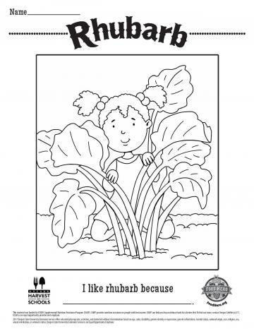Rhubarb Coloring Page