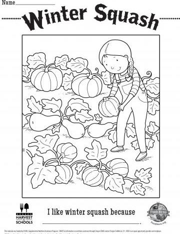 Winter Squash Coloring Sheet