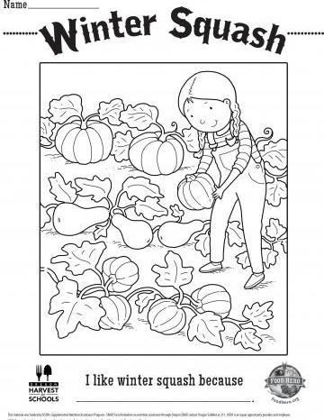 Winter Squash Coloring Sheet