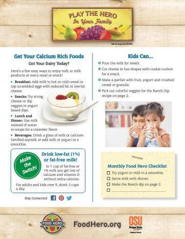 Get your calcium rich foods!