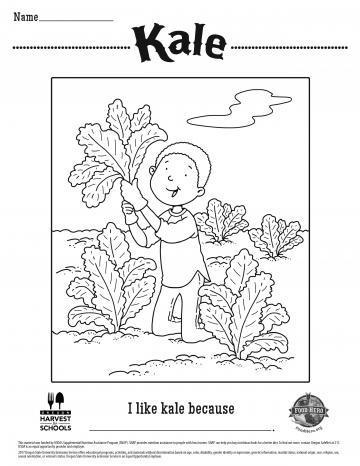 Kale Coloring Sheet