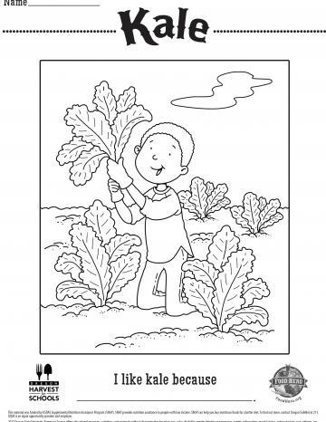 Kale Coloring Sheet