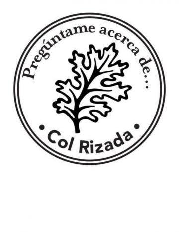 Sello de mano de Col Rizada