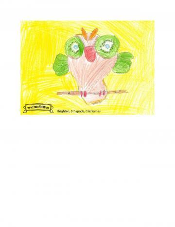 Kids Art Winners - Kiwi