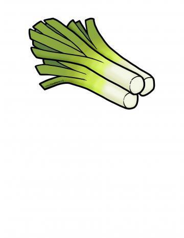 Ilustración de Puerros
