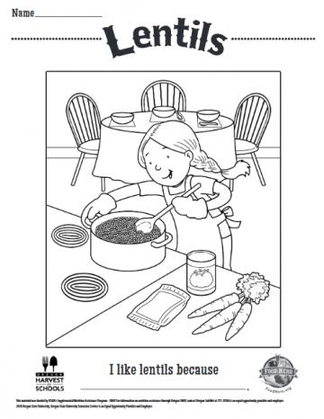 Lentils Coloring Sheet