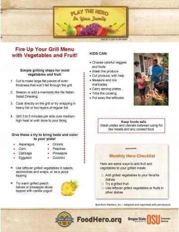 Fire Up Your Grill Menu with Vegetables and Fruit!