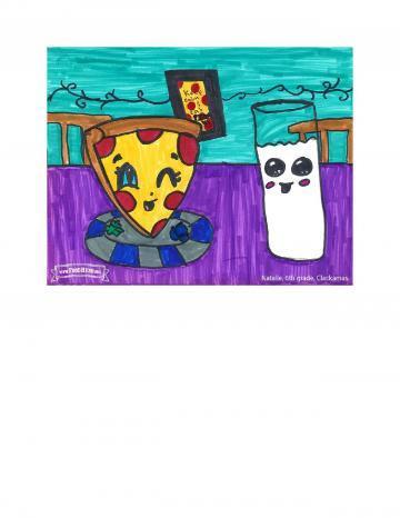 Kids Art Winners - Milk