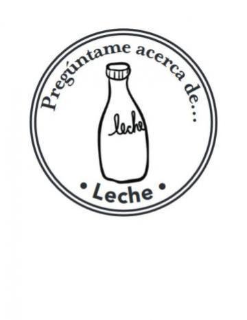 Mano Sello Imagen de Leche
