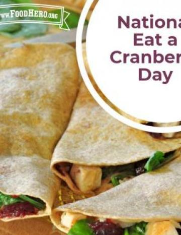 National Eat a Cranberry Day November 23rd