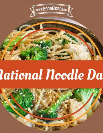National Noodle Day October 6th