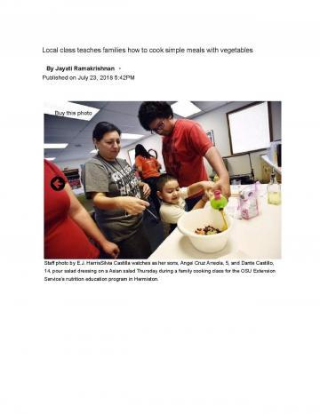 OSU Class Teaches Locals About Healthy Cooking