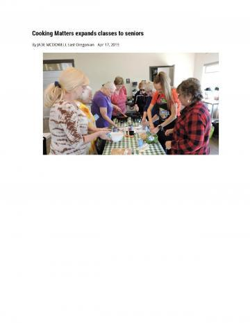 Cooking Matters Expands Classes to Seniors