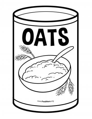 Oats Blackline Illustration