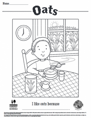 Oats Coloring Sheet