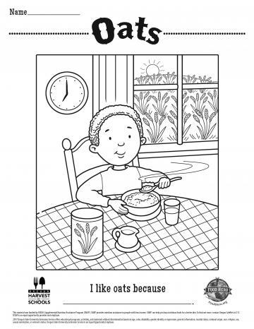 Image of Oats Coloring Page