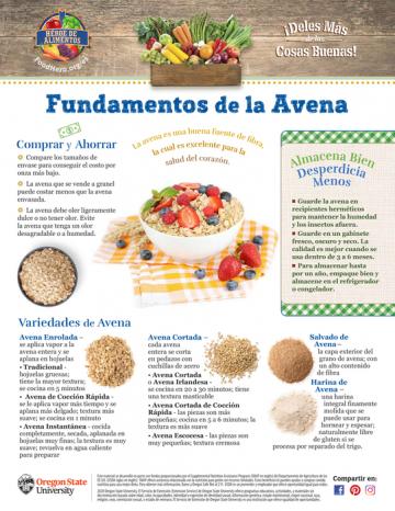Avena Últimos consejos Alimentos