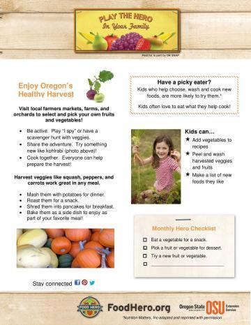 Enjoy Oregon's Healthy Harvest