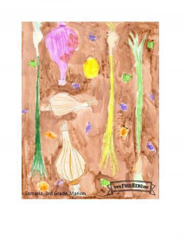 Kids Art Winners - Onion