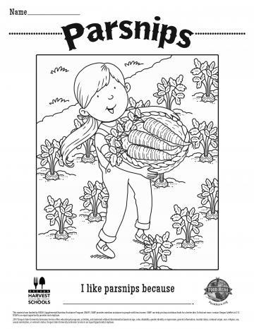 Parsnips Coloring Sheet