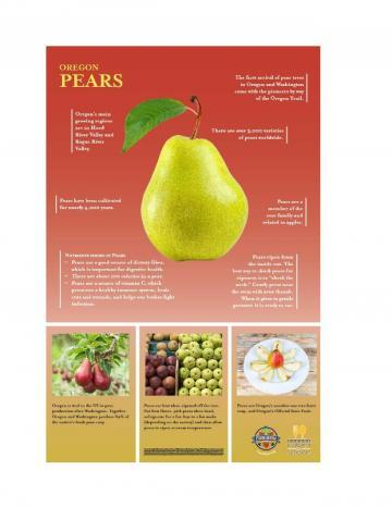 Pears Oregon Harvest Poster