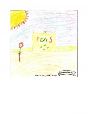 Kids Art Winners - Peas