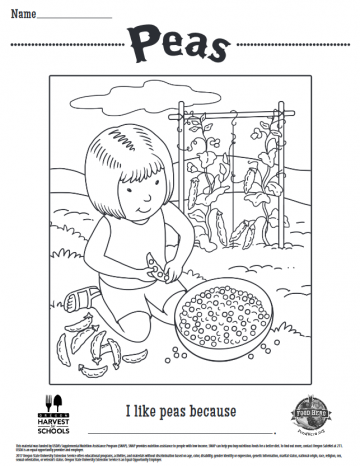 Peas Coloring Sheet