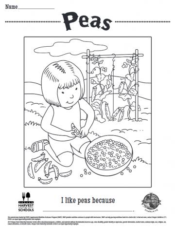 Peas Coloring Sheet