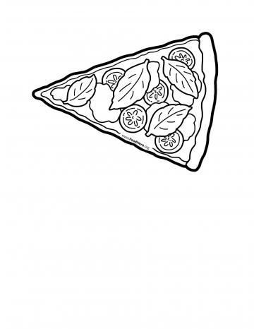 Pizza Blackline Illustration