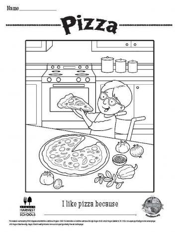 Image of Pizza Coloring Page