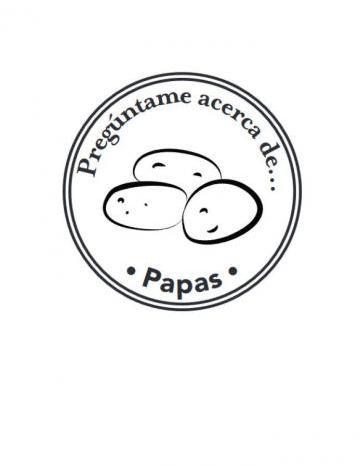 Mano Sello Imagen de Papas