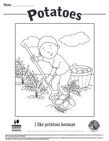 Potatoes Coloring Sheet