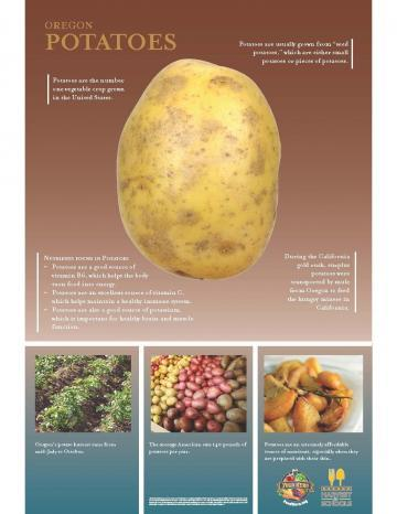 Potatoes Oregon Harvest Poster
