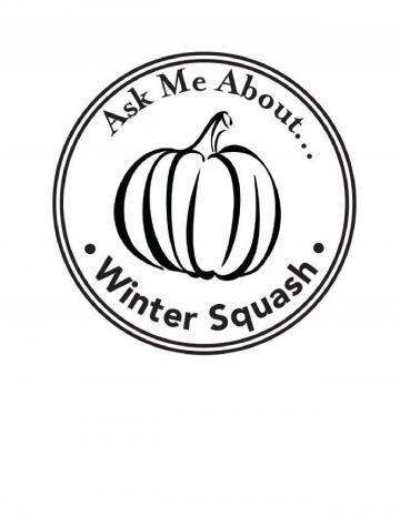 Winter Squash Hand Stamp