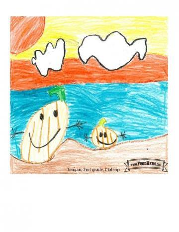 Niños Art Contest Winners - Calabaza