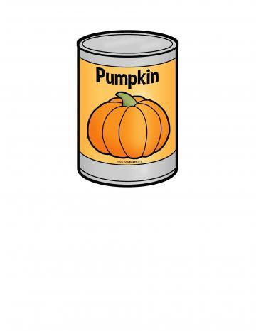 Canned Pumpkin Illustration