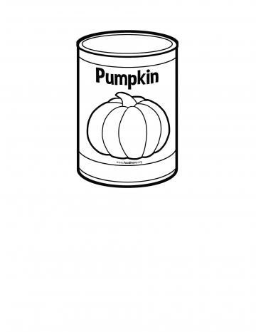 Canned Pumpkin Blackline