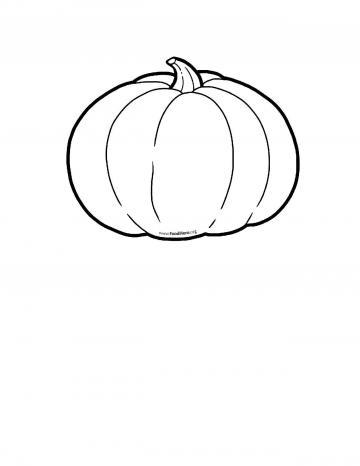 Pumpkin Blackline Illustration
